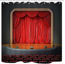 JOOCAR Design Shower Curtain, 3D Stage Theater