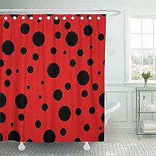 JOOCAR Design Shower Curtain, Abstract Ladybug