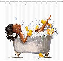JOOCAR Design Shower Curtain, African Girls