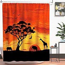 JOOCAR Design Shower Curtain, African Sunset