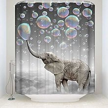 JOOCAR Design Shower Curtain, Animal Elephant Blow