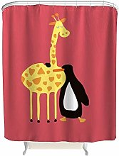 JOOCAR Design Shower Curtain, Animal Friend