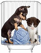 JOOCAR Design Shower Curtain, Animal Themed Cute