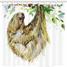 JOOCAR Design Shower Curtain, Animal Watercolor
