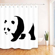 JOOCAR Design Shower Curtain, Black and White
