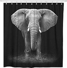 JOOCAR Design Shower Curtain, Brown Animal