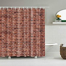 JOOCAR Design Shower Curtain, Brown Bricks Wall