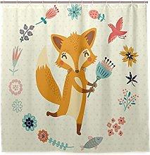 JOOCAR Design Shower Curtain, Cartoon Cute Animal