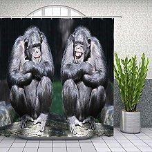 JOOCAR Design Shower Curtain, Chimpanzee Funny