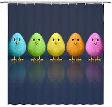 JOOCAR Design Shower Curtain, Colored Cute Chick