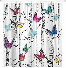 JOOCAR Design Shower Curtain, Colorful Butterfly