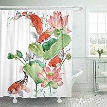 JOOCAR Design Shower Curtain, Colorful Fish