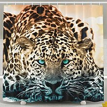 JOOCAR Design Shower Curtain, Cool Animal Blue