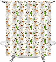 JOOCAR Design Shower Curtain, Cute Mexican Wild