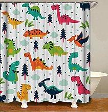 JOOCAR Design Shower Curtain, Dinosaur Cute
