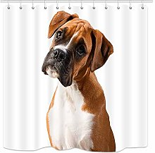 JOOCAR Design Shower Curtain, Dog Lover Pet Animal