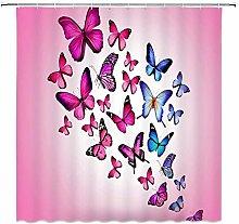 JOOCAR Design Shower Curtain, Dream Butterfly Pink