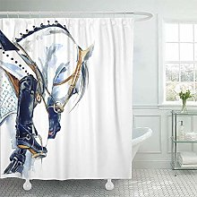 JOOCAR Design Shower Curtain, Dressage Equestrian