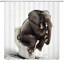 JOOCAR Design Shower Curtain, Elephant Sitting on