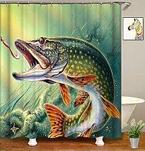 JOOCAR Design Shower Curtain, Fish Marine Animal
