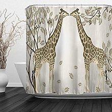 JOOCAR Design Shower Curtain, Giraffe Illustration