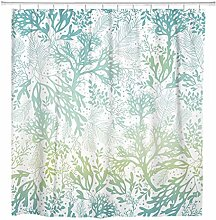 JOOCAR Design Shower Curtain, Green Sea Blue Freen