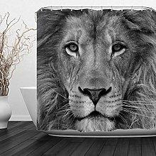 JOOCAR Design Shower Curtain, Grey Portrait Animal
