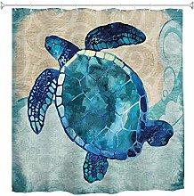 JOOCAR Design Shower Curtain, Marine Life Blue Sea