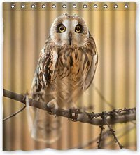 JOOCAR Design Shower Curtain, Owl in The Forest