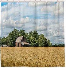 JOOCAR Design Shower Curtain, Pastoral Photo of