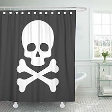 JOOCAR Design Shower Curtain, Poison Skull with