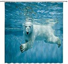 JOOCAR Design Shower Curtain, Polar Bear Cute