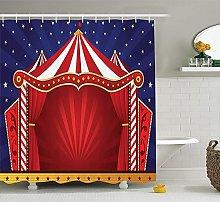 JOOCAR Design Shower Curtain, Red Circus Canvas