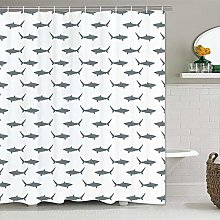 JOOCAR Design Shower Curtain, Sharks Sea Animals