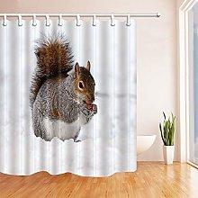 JOOCAR Design Shower Curtain, Squirrel Eating in