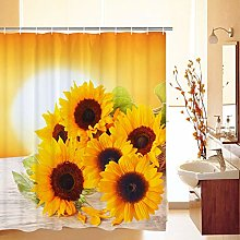 JOOCAR Design Shower Curtain, Sunflowers in The