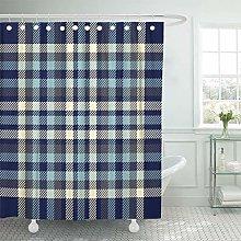JOOCAR Design Shower Curtain, Tartan Plaid Pattern
