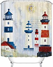 JOOCAR Design Shower Curtain, Vintage Nautical