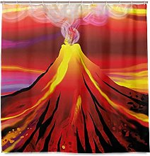 JOOCAR Design Shower Curtain, Volcano with Smoke