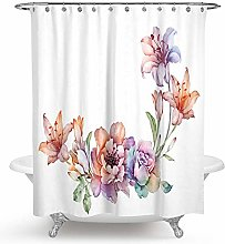 JOOCAR Design Shower Curtain, Watercolor Tropical