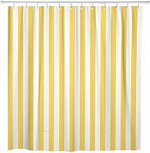 JOOCAR Design Shower Curtain, White Stripe Striped