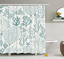 JOOCAR Design Shower Curtain, with Coral Reef and