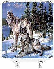 JOOCAR Design Shower Curtain, Wolf Wildlife