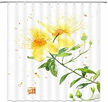 JOOCAR Design Shower Curtain, Yellow Flower Plant