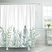 JOOCAR Fabric Shower Curtain Curtains with Hooks