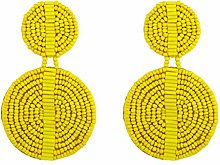 Joocyee A Pairs Round Beaded Earrings Drop Dangle