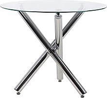 Joolihome Dining Table, Glass Round Table Top with