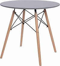 Joolihome Dining Table, Round Wooden Coffee Table
