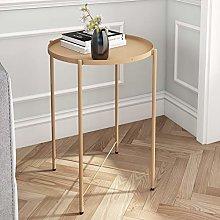 Joolihome Metal End Table, Small Round Sofa Side