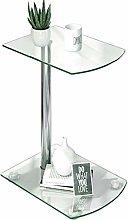 Joolihome Side Table Glass Small Coffee Table